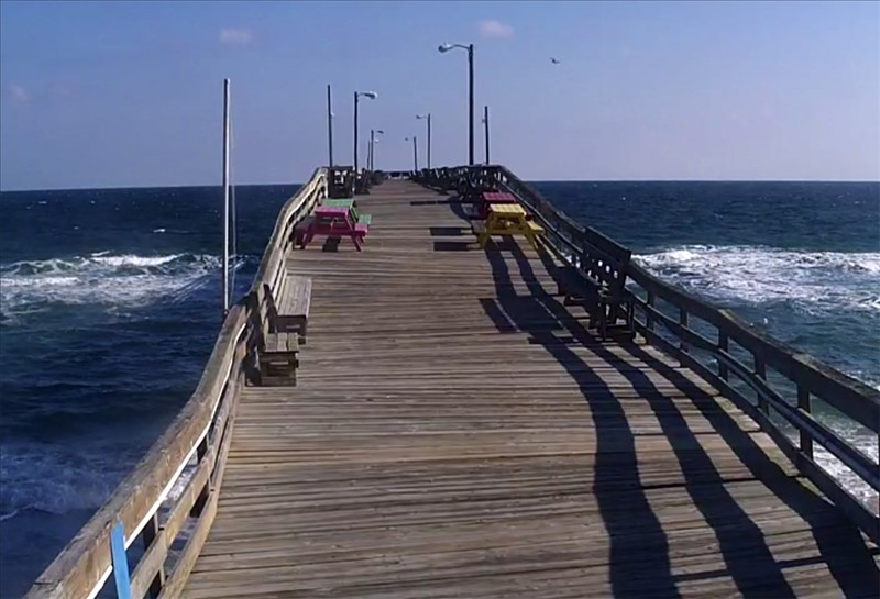 Beautiful clear day on the outer banks obx connection for Nags head fishing pier