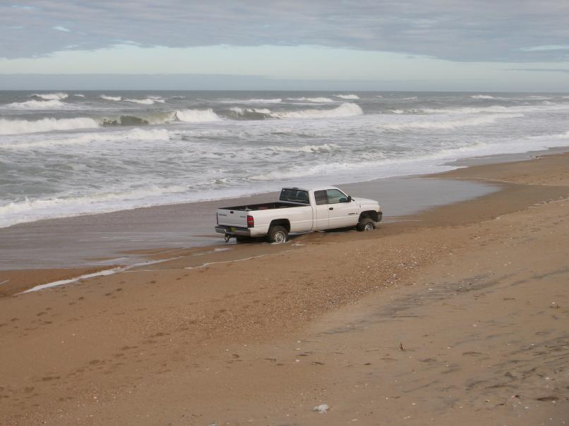 Cars Drive On Outer Banks
