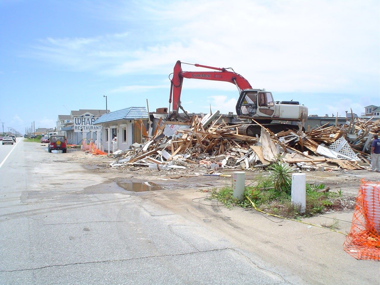 The Wharf In Nags Head Was Demolished August 2004
