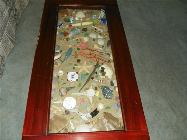 Beach themed coffee table obx connection message board for Themed coffee tables