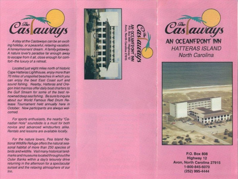 The Castaways Brochure Page 1